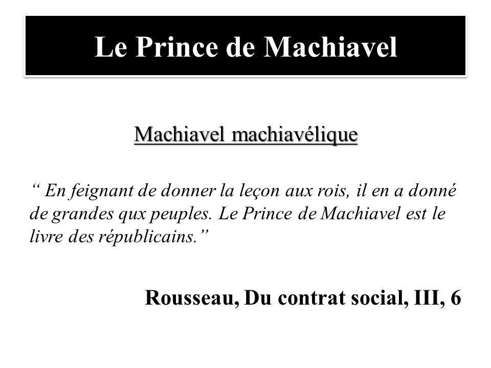 Machiavel machiavélique
