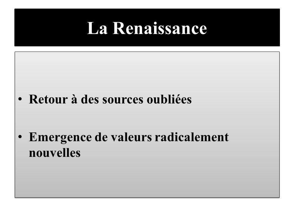 La Renaissance Retour à des sources oubliées