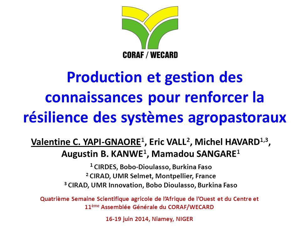 Production et gestion des connaissances pour renforcer la résilience des systèmes agropastoraux
