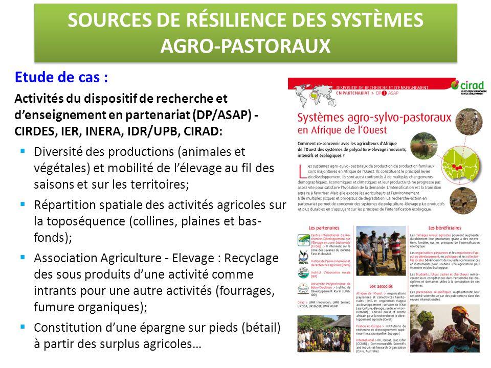 SOURCES DE RÉSILIENCE DES SYSTÈMES AGRO-PASTORAUX