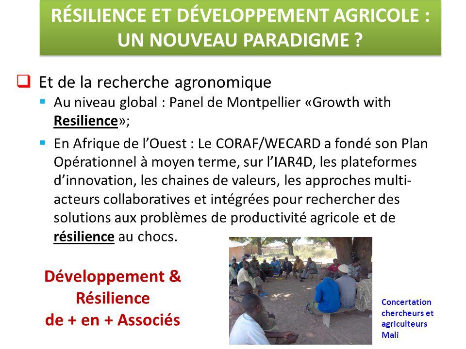 RÉSILIENCE ET DÉVELOPPEMENT AGRICOLE : UN NOUVEAU PARADIGME