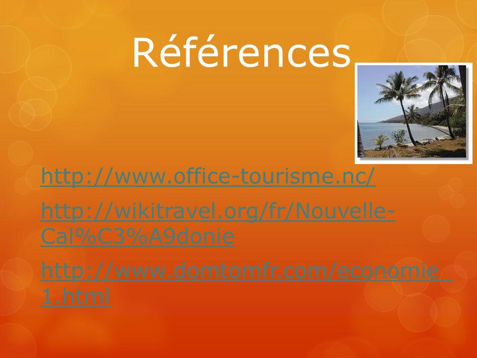 Références http://www.office-tourisme.nc/