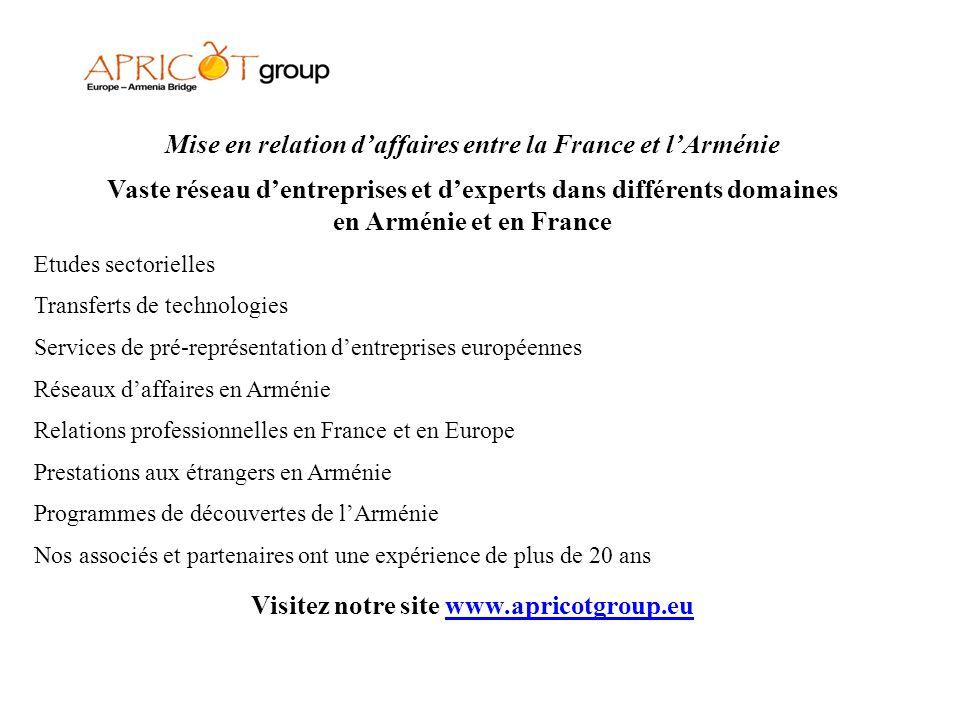 Mise en relation d'affaires entre la France et l'Arménie