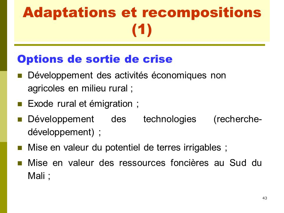 Adaptations et recompositions (1)