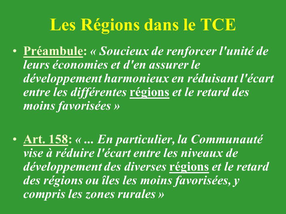Les Régions dans le TCE