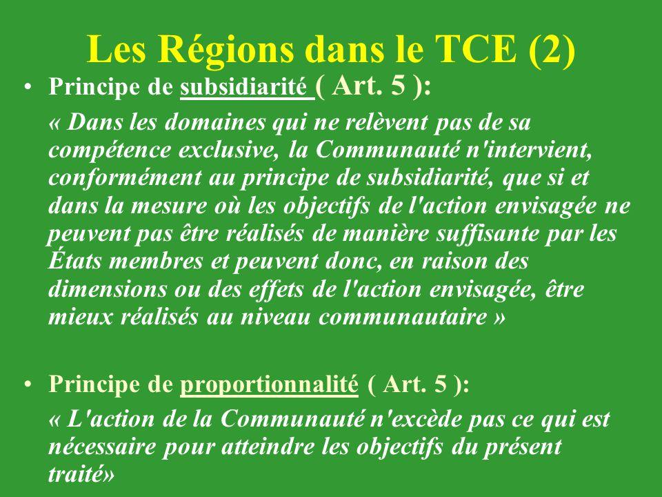 Les Régions dans le TCE (2)