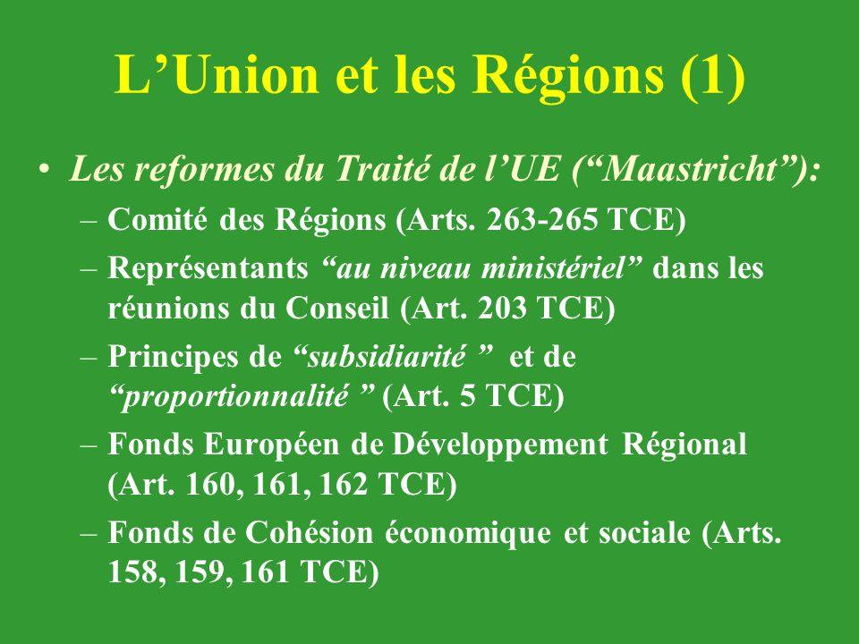 L'Union et les Régions (1)