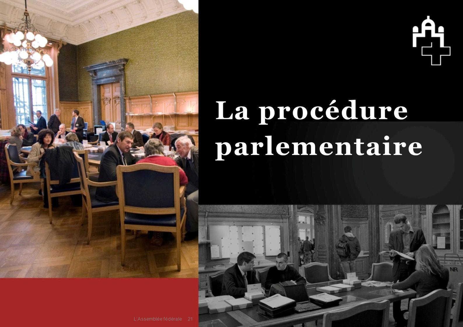 La procédure parlementaire L'Assemblée fédérale