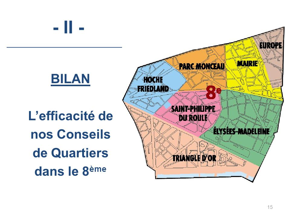 BILAN L'efficacité de nos Conseils de Quartiers dans le 8ème