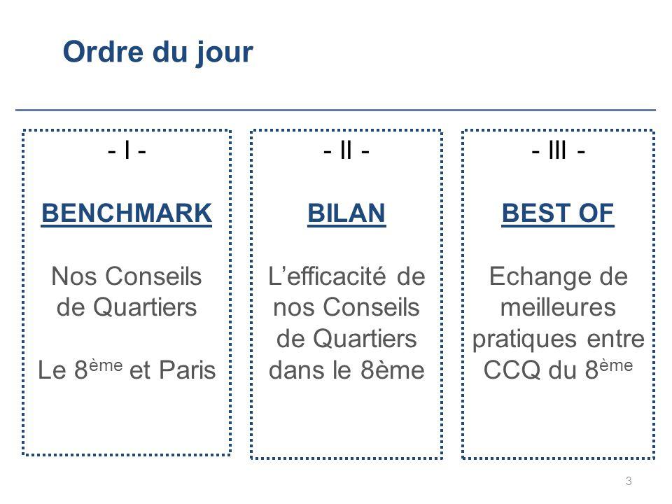 Echange de meilleures pratiques entre CCQ du 8ème