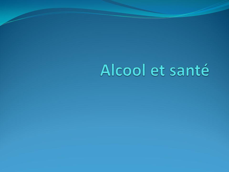 Alcool et santé