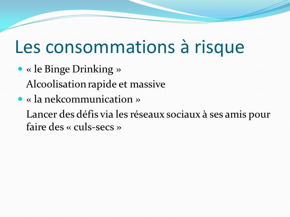 Les consommations à risque