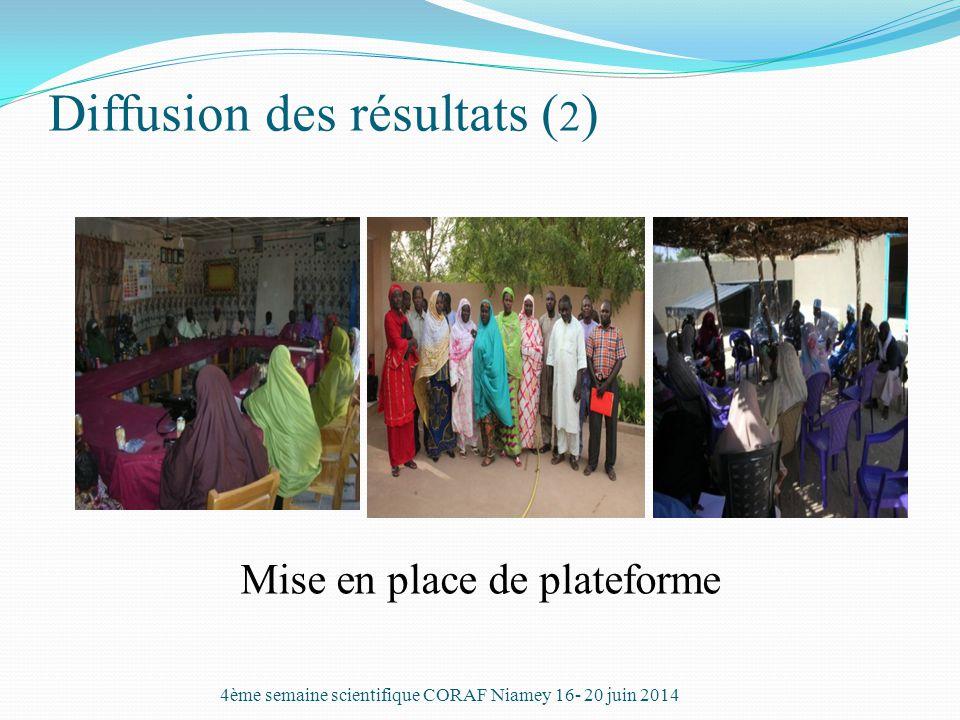 Diffusion des résultats (2)