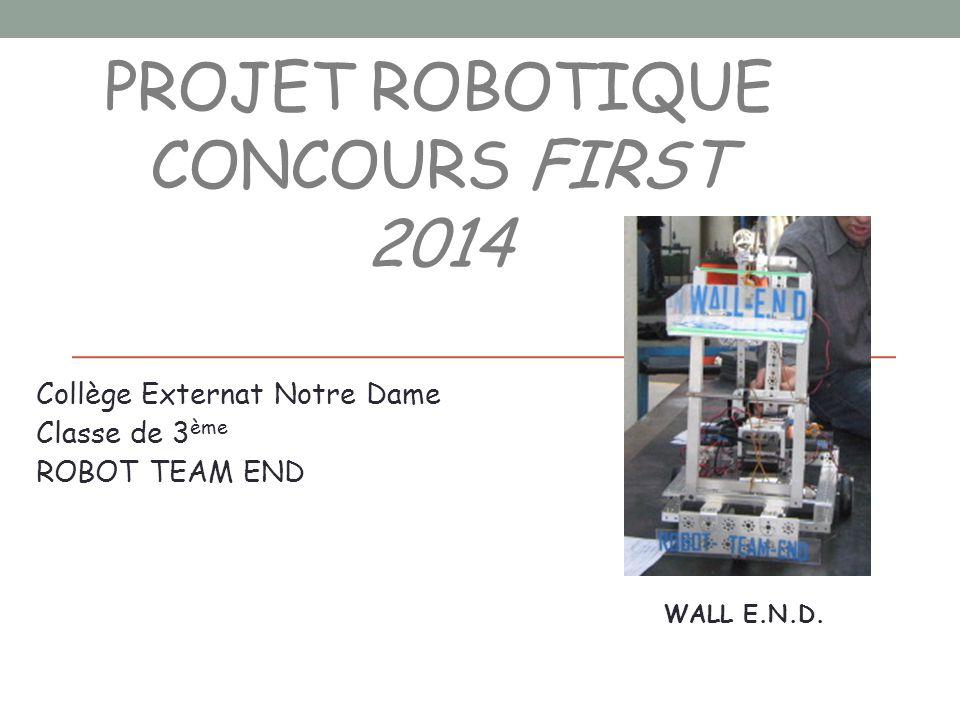 Projet robotique Concours FIRST 2014