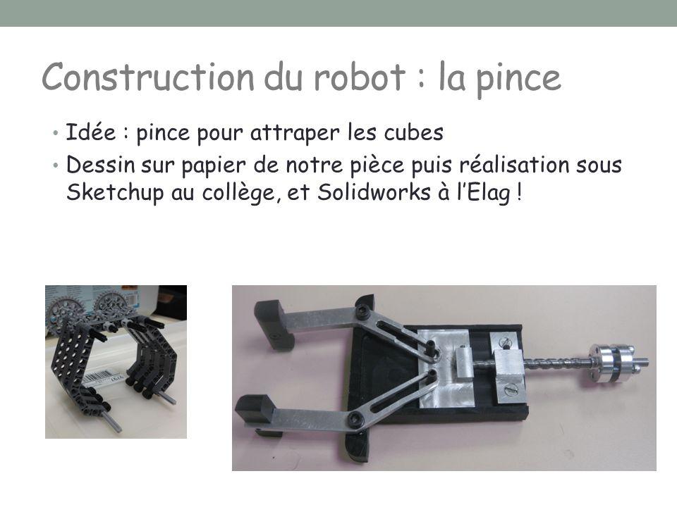 Construction du robot : la pince