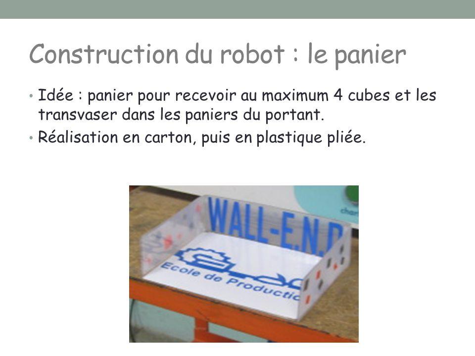 Construction du robot : le panier