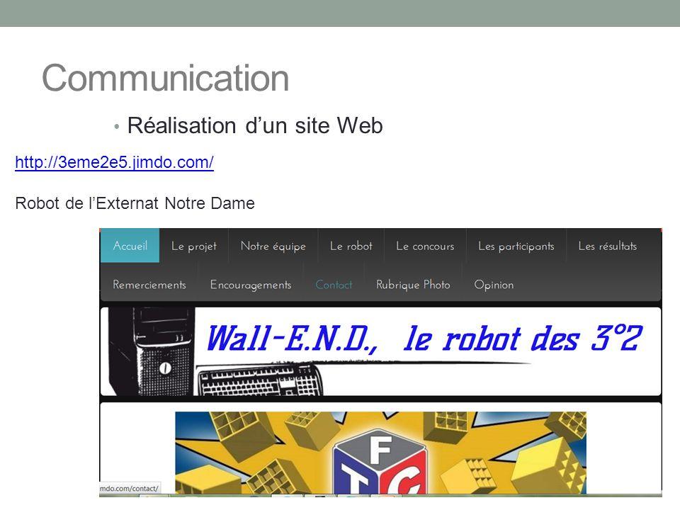 Communication Réalisation d'un site Web http://3eme2e5.jimdo.com/