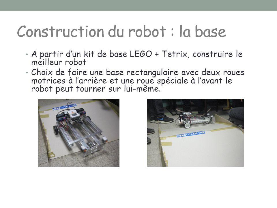 Construction du robot : la base