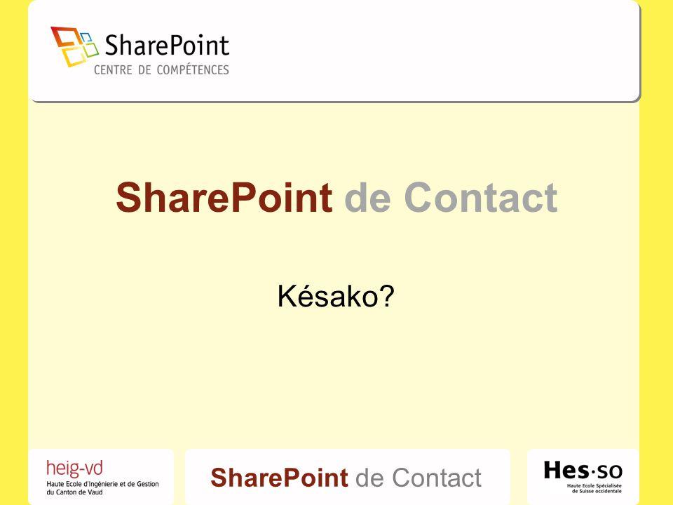 SharePoint de Contact Késako