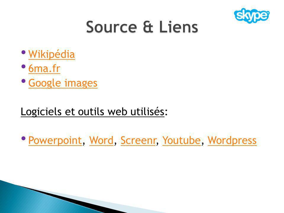 Source & Liens Wikipédia 6ma.fr Google images