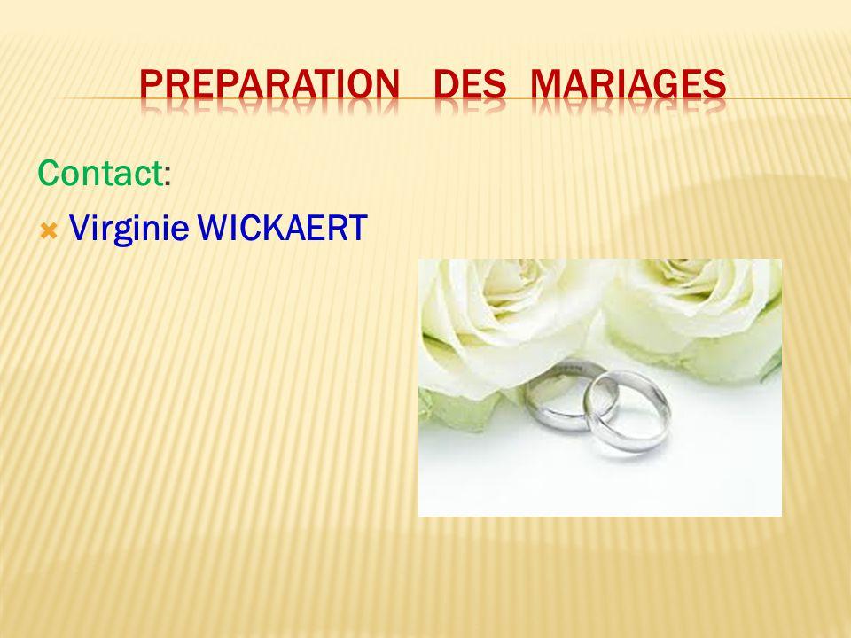 Preparation des mariages