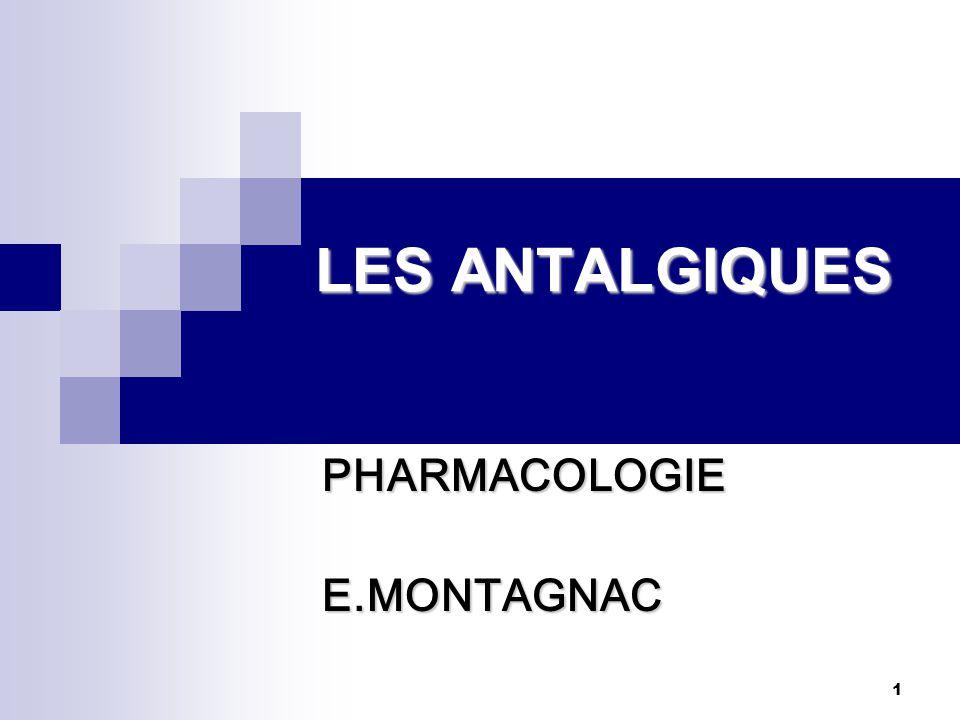 PHARMACOLOGIE E.MONTAGNAC