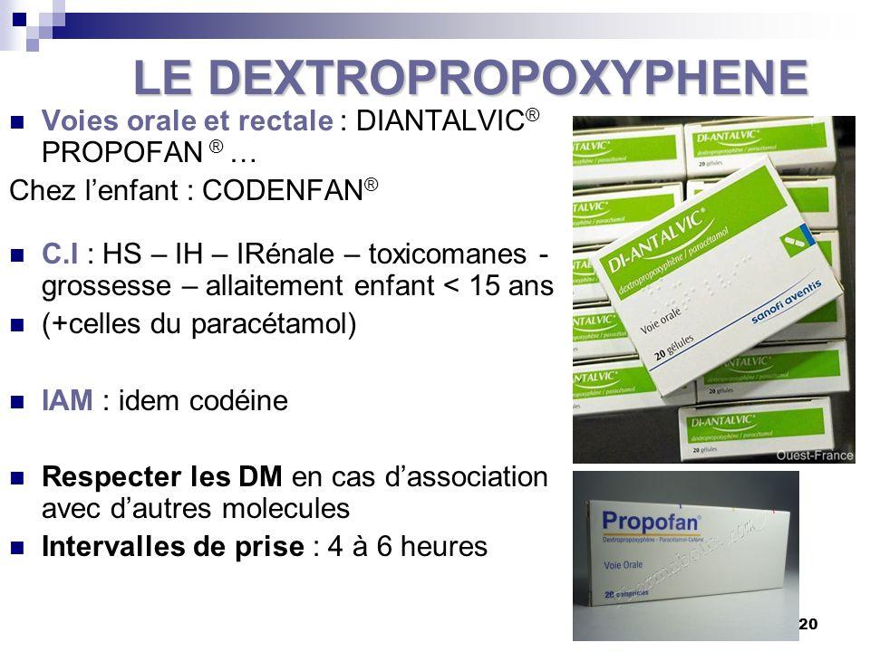 LE DEXTROPROPOXYPHENE