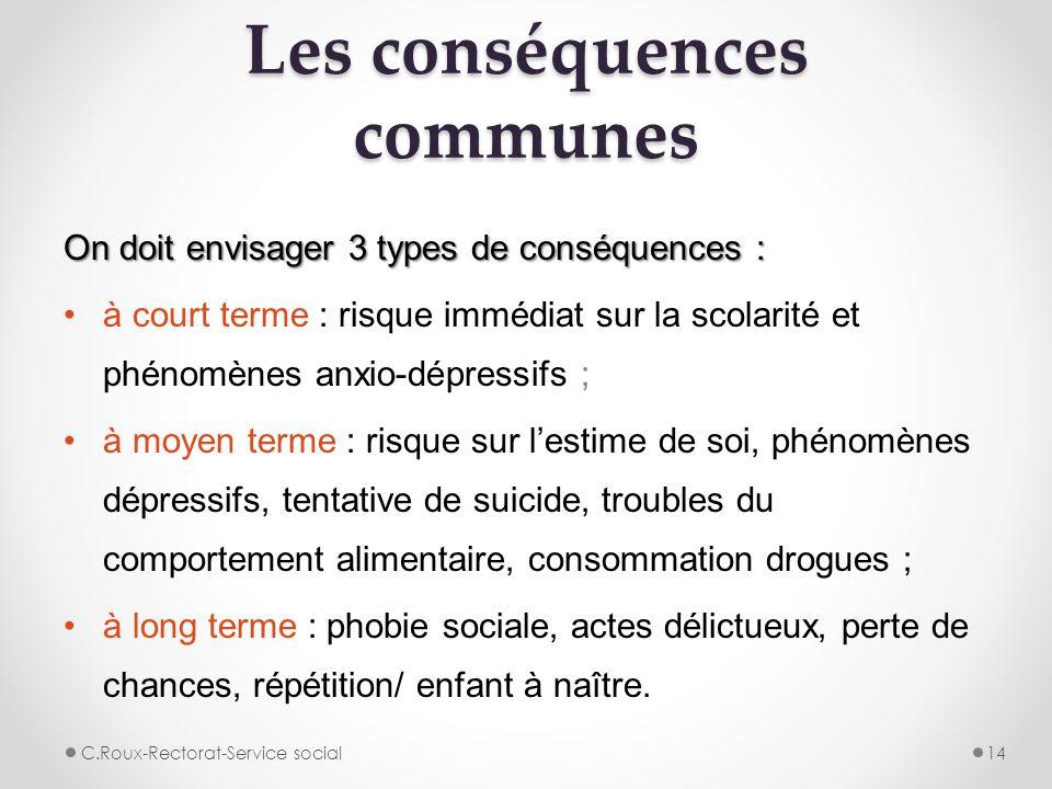 Les conséquences communes