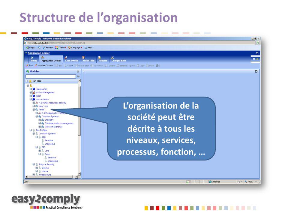 Structure de l'organisation