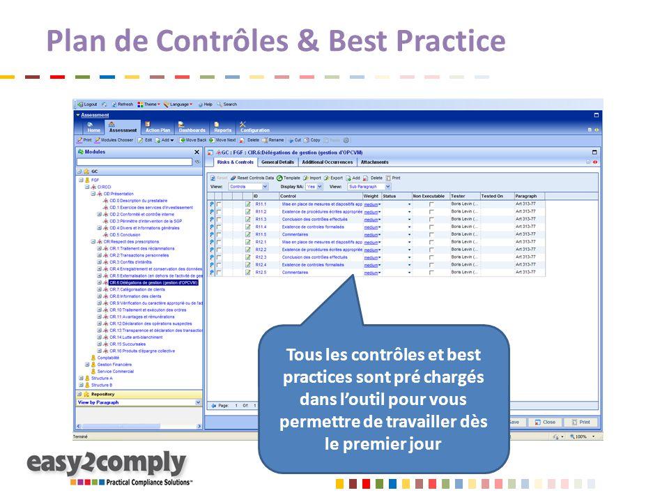 Plan de Contrôles & Best Practice