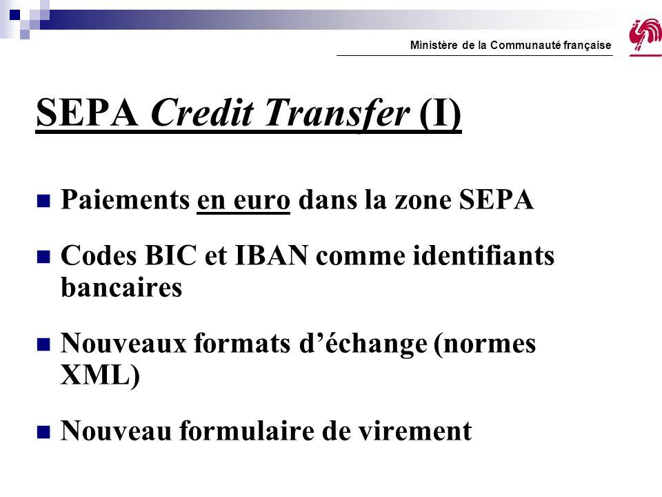 SEPA Credit Transfer (I)