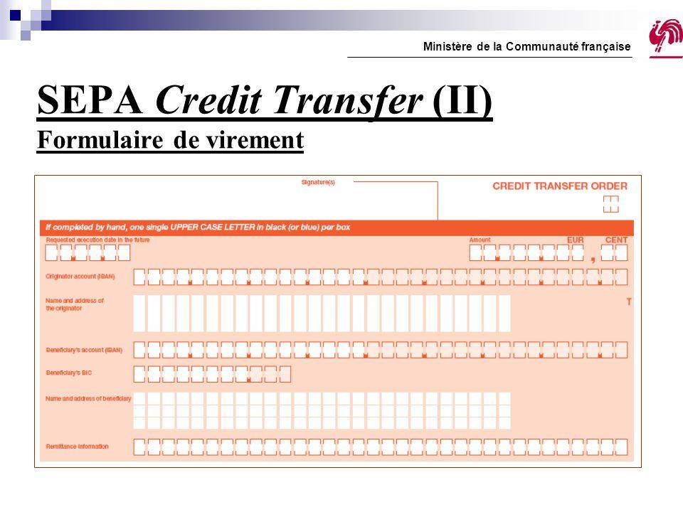 SEPA Credit Transfer (II) Formulaire de virement