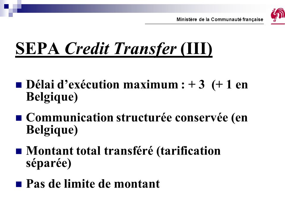 SEPA Credit Transfer (III)