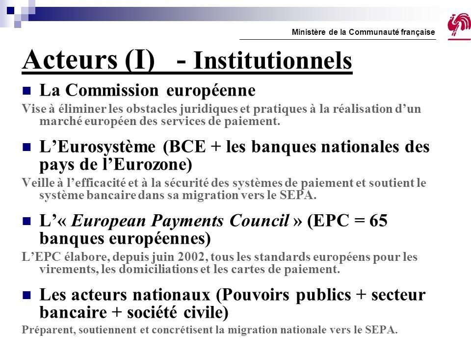 Acteurs (I) - Institutionnels