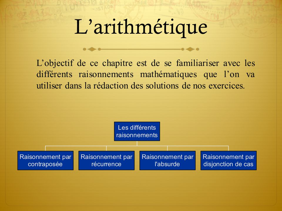 L'arithmétique