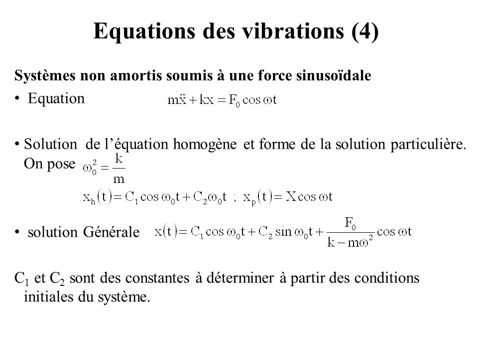 Equations des vibrations (4)