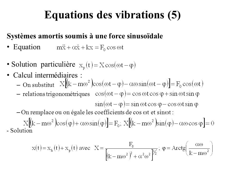 Equations des vibrations (5)