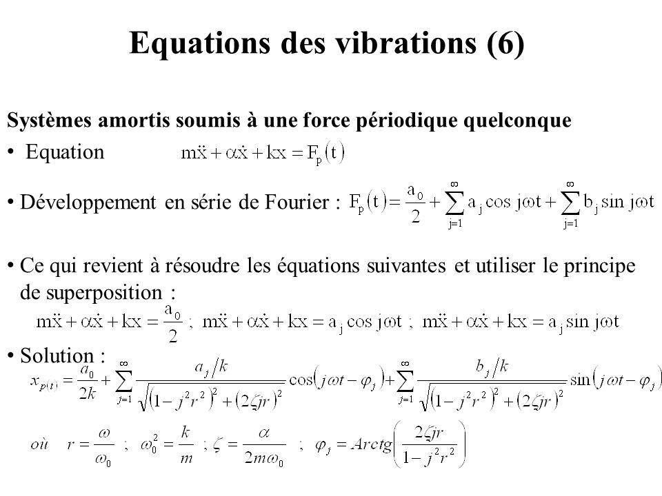 Equations des vibrations (6)
