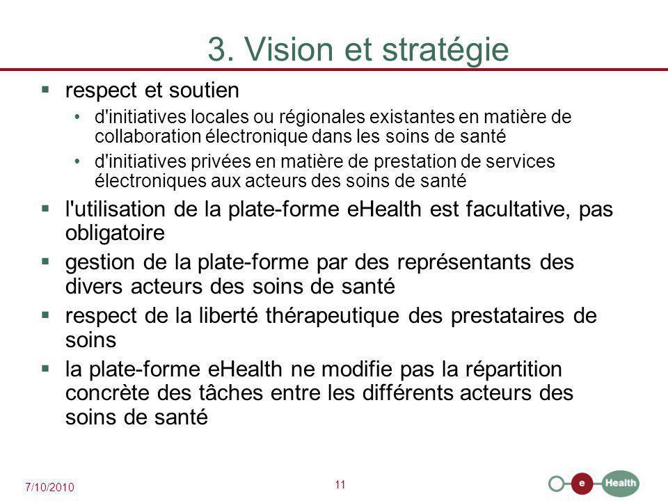3. Vision et stratégie respect et soutien