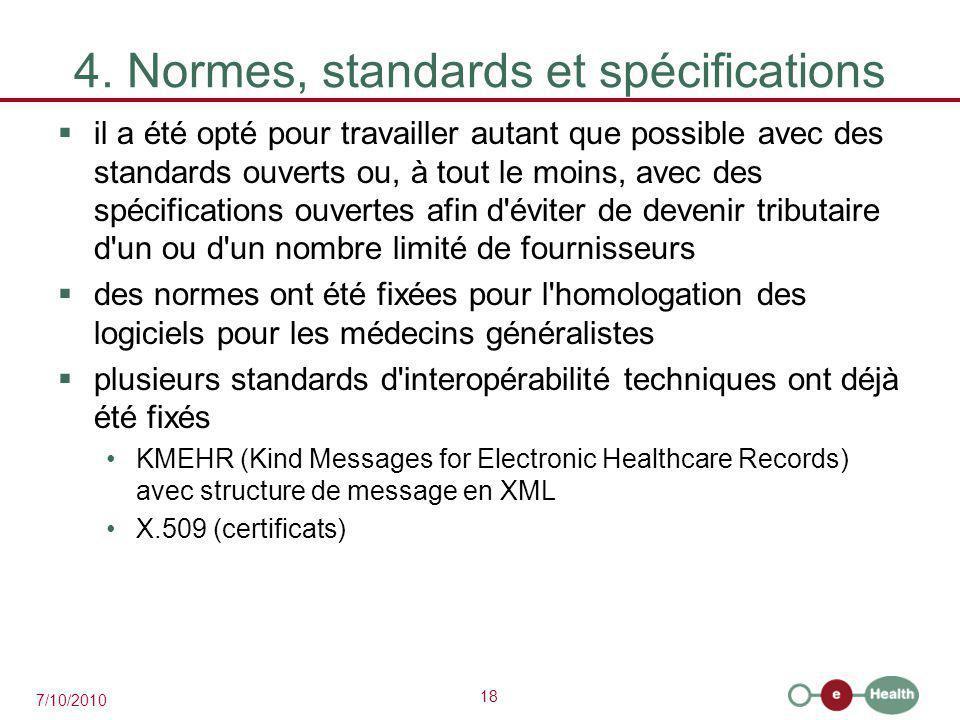 4. Normes, standards et spécifications