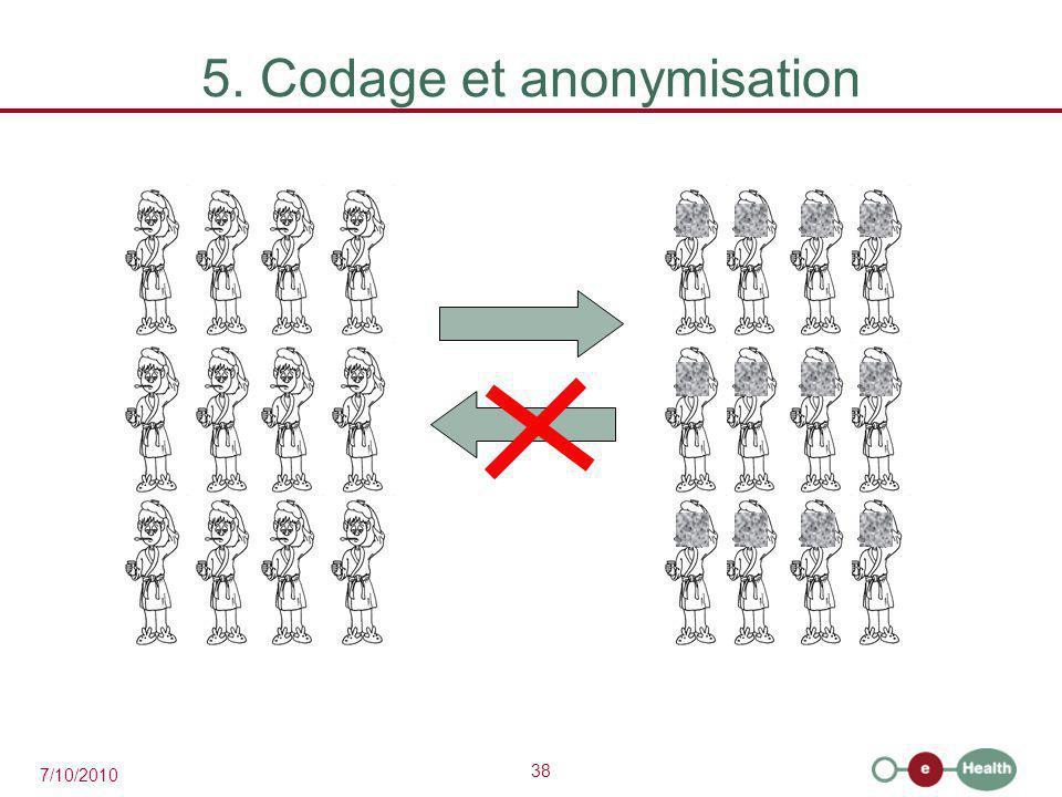 5. Codage et anonymisation