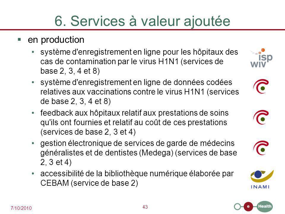 6. Services à valeur ajoutée
