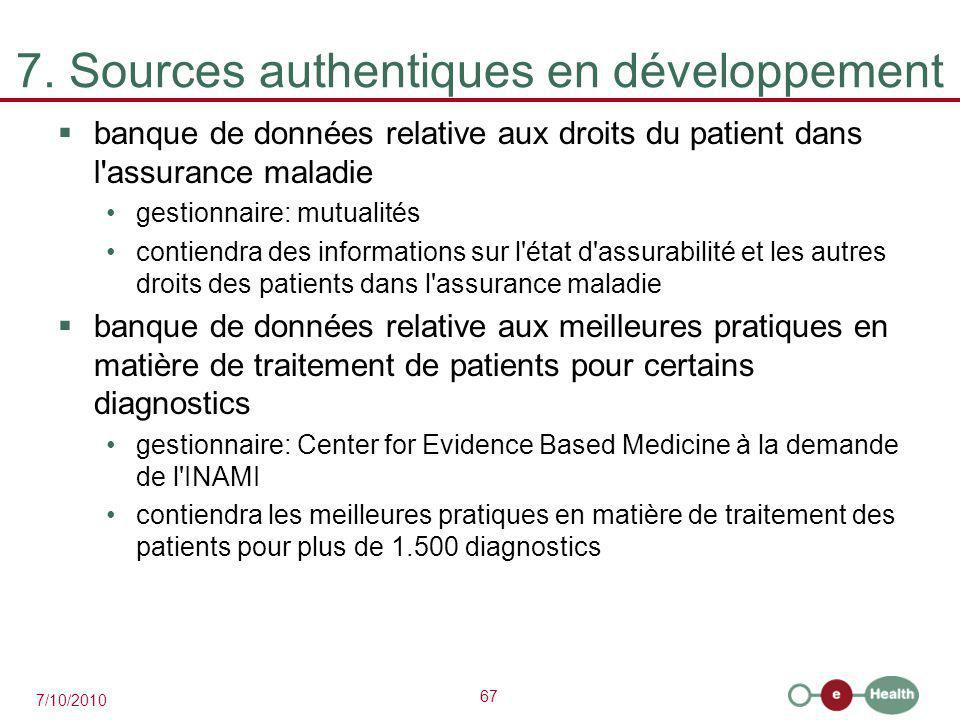 7. Sources authentiques en développement