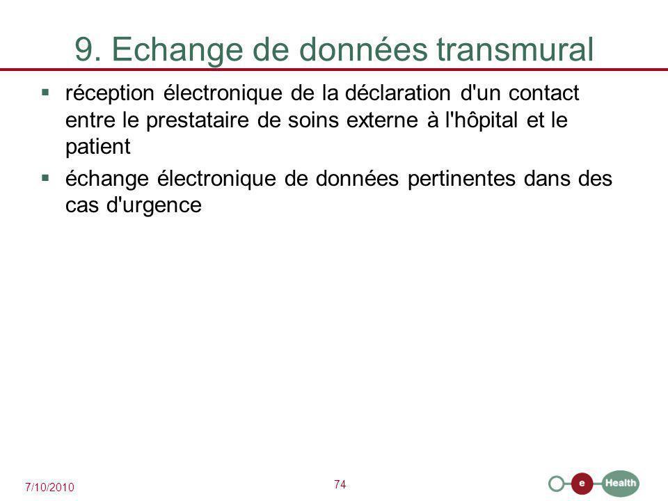9. Echange de données transmural