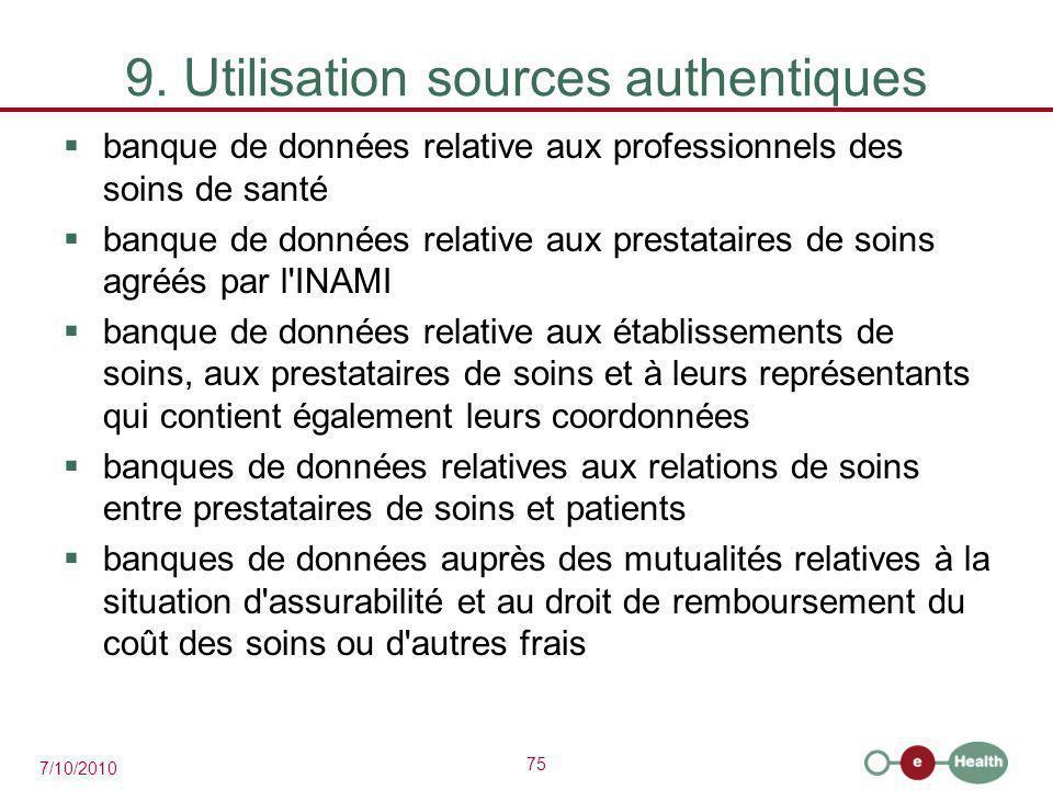 9. Utilisation sources authentiques