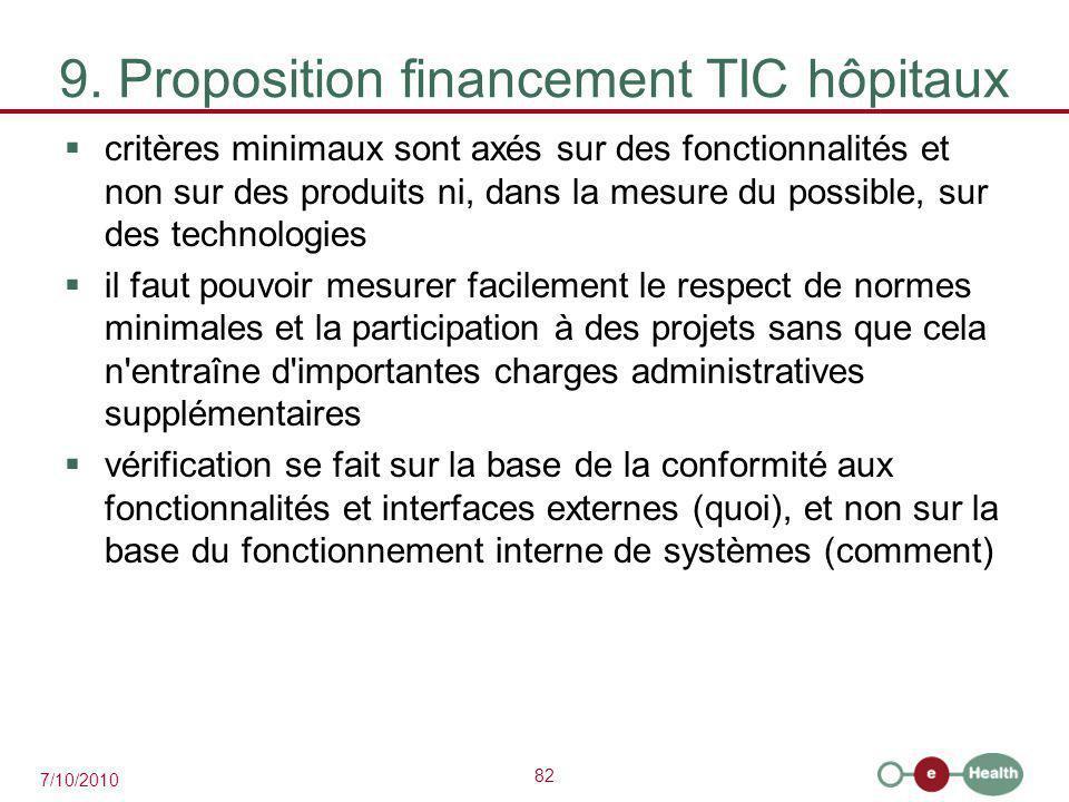 9. Proposition financement TIC hôpitaux
