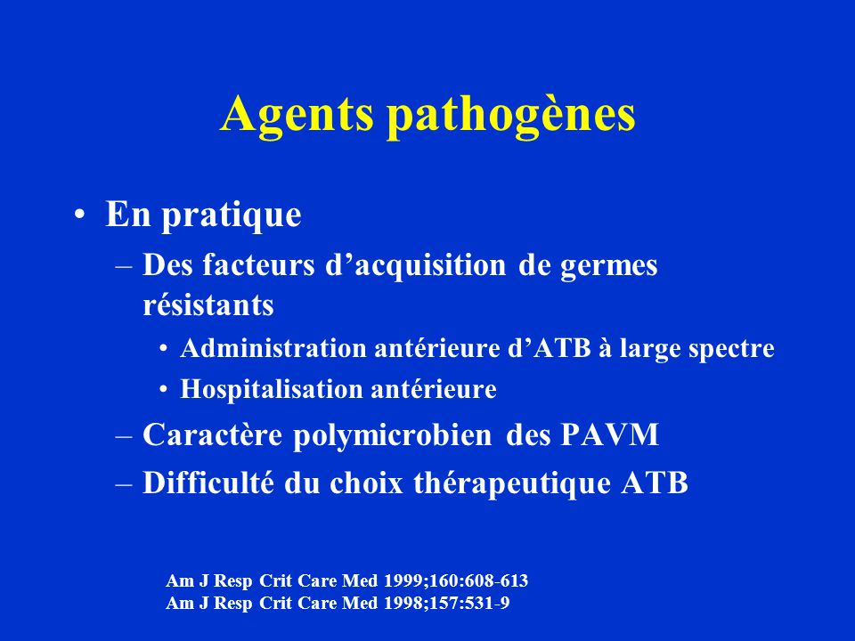 Agents pathogènes En pratique