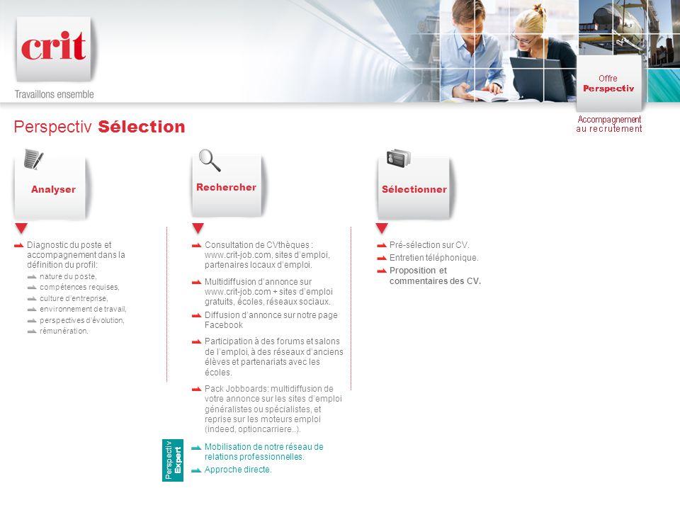 Perspectiv Sélection Analyser Rechercher Sélectionner