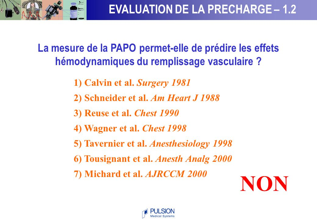 NON EVALUATION DE LA PRECHARGE – 1.2
