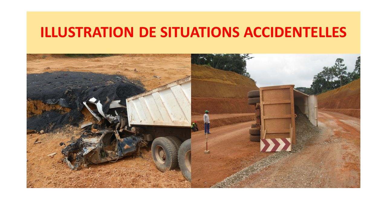 ILLUSTRATION DE SITUATIONS ACCIDENTELLES